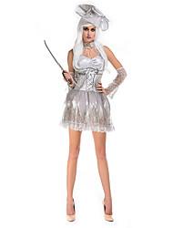 Costumes de Cosplay / Costume de Soirée Zombie Fête / Célébration Déguisement Halloween Gris Couleur PleineRobe / Chapeau / Plus