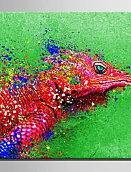 Animal Impressão em tela Um Painel Pronto para pendurar , Quadrada