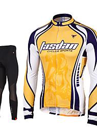 taşdan® Fahrradtrikots mit Fahrradhosen Herrn Langärmelige FahhradAtmungsaktiv / Rasche Trocknung / Reißverschluß vorne /