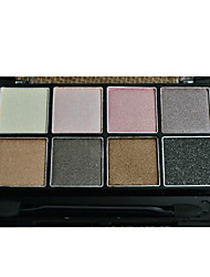 8 Eyeshadow Palette Dry Eyeshadow palette Powder Normal Daily Makeup/1#-8#
