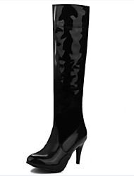 Women's Boots Fall / Winter Fashion Boots PU Outdoor / Dress / Casual Low Heel Others Black / White Others