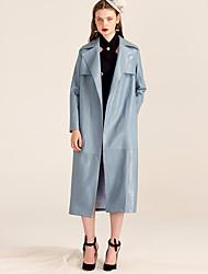 YIGELILA Women's Shirt Collar Long Sleeve Sweater & Cardigan Blue-9430