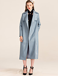 YIGELILA Femme Col de Chemise Manche Longues Pull & Cardigan Bleu-9430