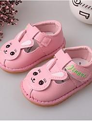 Girl's Flats Fall Flats PU Casual Flat Heel Animal Print Pink / Red / White / Gray / Peach