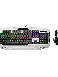 Katie Wei 9126 Backlit Keyboard Mouse Suit Lol Game Cafe Usb Keyboard Cable Sets