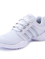 Non Customizable Women's Dance Shoes Fabric Fabric Modern Heels Chunky Heel Performance Black / White / Fuchsia