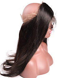 New Style Custom Silk Straight 360 Lace Band Frontals Back Closure With Natural Hairline Baby Hair For Black Women