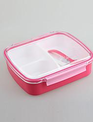 scellé sous vide lunchbox clair avec 3 compartiments