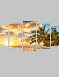Пейзаж Отдых Фото Классика,5 панелей Горизонтальная С картинкой Декор стены For Украшение дома