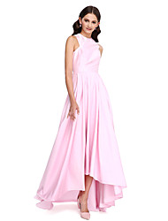 2017 Lanting Bride® Asymmetrical Taffeta Elegant Bridesmaid Dress - A-line Jewel with Draping