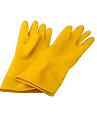 Acid Alkali Resistant Industrial Rubber Gloves      Two Pairs of Packaged for Sale         Size  M