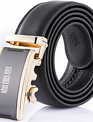 Katusi 6 New Mens Ratchet Belt Fashion Business Casual Style Genuine Leather 3.5cm Width kts6-3