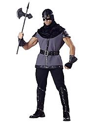 Costumes de Cosplay / Costume de Soirée Soldat/Guerrier Fête / Célébration Déguisement Halloween Noir / Gris Couleur PleineHaut /