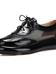 Homme-Extérieure-Noir / Rose / Blanc-Plateforme-Bout Fermé-Sneakers-Cuir