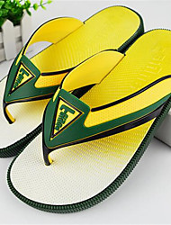 Men's Slippers & Flip-Flops Summer Sandals PVC Casual Flat Heel Others Blue / Yellow / Green Others
