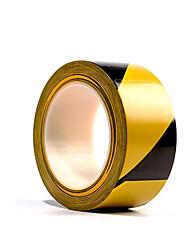 fita 50mm amarelo e preto sarja pvc piso avisos