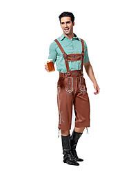 Costumes de Cosplay / Costume de Soirée Fête d'Octobre/Bière / Serveur / Serveuse Fête / Célébration Déguisement HalloweenBleu Ciel /