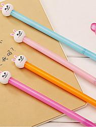 10 PCS Rabbit Black Ink Gel Pen