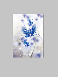 E-HOME® Stretched LED Canvas Print Art A Blue Flowers LED Flashing Optical Fiber Prin