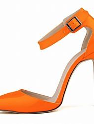 Women's Heels Summer Comfort Patent Leather Casual Stiletto Heel BuckleBlack / Blue / Yellow / Green /