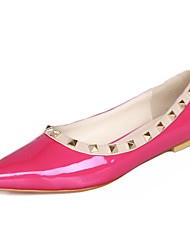 Women's Flats Summer Comfort PU Casual Flat Heel Others Black / Blue / Red / Gray / Fuchsia Others