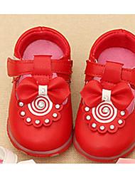 Mädchen-Sandalen-Outddor-PU-Flacher Absatz-Sandalen-Rosa / Rot / Weiß
