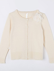 Girl's Casual/Daily Solid Sweater & CardiganCotton Fall Beige
