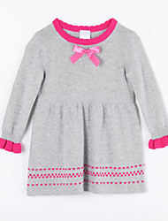 Girl's Casual/Daily Solid Dress / Sweater & CardiganCotton Fall Gray