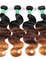 4 Peças Onda de Corpo Tramas de cabelo humano Cabelo Brasileiro 400g 10-28inches Extensões de cabelo humano