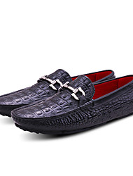 Men's Loafers & Slip-Ons Spring / Summer / Fall / Winter Moccasin Leather Outdoor / Office & Career / Casual Flat Heel