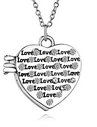 Necklace Non Stone Pendant Necklaces Lockets Necklaces Jewelry Thank You Party Daily Valentine Heart Unique Design Heart AlloyWomen Men