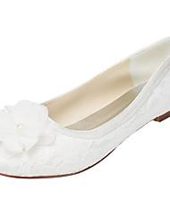 Damen-Flache Schuhe-Hochzeit / Kleid / Party & Festivität-Stretch - Satin-Flacher Absatz-Others-Elfenbein / Weiß