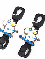 Крючки мультфильм животных автомобиля крюк автомобиля сиденье мульти - цель сиденье автомобиля задний крюк 2 установлены