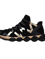 Men's Sneakers Spring / Fall Comfort PU Casual Flat Heel  Black / Black and Gold Sneaker