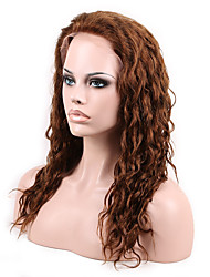 14- 26inch Menschen reines Menschenhaar 4 # volle Spitze&Front natürlichen gewellten Perücke mit Baby-Haar-Spitze