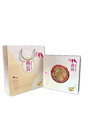Note 100G 26 * 26 * 8.5 cm Rice White High-end Specialty Paper Products Packaging Box Pearl Bird's Nest Gift Box