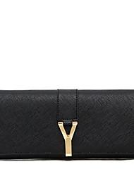 LaFestin® Women Cowhide Checkbook Wallet Red / Black-602092
