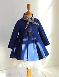 Casual/Dagelijks-Effen-Katoen-Lente / Herfst-Girl's-Kostuum & Blazer-Blauw / Bruin