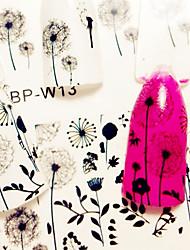 2 Patterns/Sheet Flying Dandelion Nail Art Water Decals Nail Transfer Stickers BORN PRETTY BP-W13