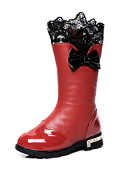 Girl's Boots Others Patent Leather Casual Black Pink Red