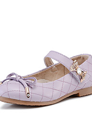 Girl's Flats Comfort Leather Casual Black / Blue / Pink / Purple