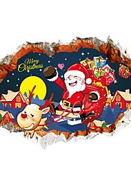 Noël / Personnes / 3D Stickers muraux Stickers avion / Stickers muraux 3D Stickers muraux décoratifs,PVC MatérielAmovible /