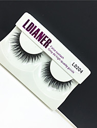 Full Strip Lashes Eyes Thick Handmade mink hair eyelash Black Band 0.10mm 12mm LD204