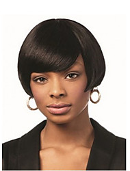 Natural Short Black Wig Fashion Straight Synthetic Wigs For Black Women