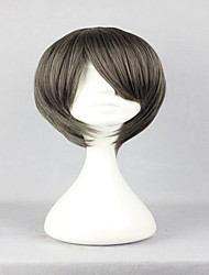 Classical Male Grey Short Hair Umineko no Nakukoroni Kanon Grey Cosplay Synthetic Wig