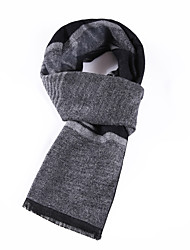 Men's Wool Blend Scarf Work/Casual/Calassic Scarf Nature and Warm with Blue / Gray Color