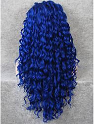 imstyle 26''long rizado encaje frente pelucas sintéticas resistentes al calor a la venta para el partido