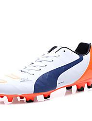 Femme-Décontracté Sport-Bleu Blanc Orange Noir et rouge-Talon Plat-Confort-Chaussures d'Athlétisme-Similicuir