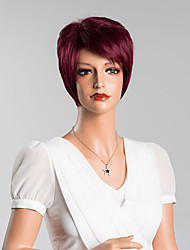Latest Trend Short Straight Capless Wigs Makes You More Amazing High Quality Human Hair Mixed Color