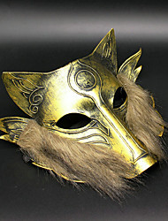 1pc máscara de lobo de ferro para o dia das bruxas traje do partido cor aleatória